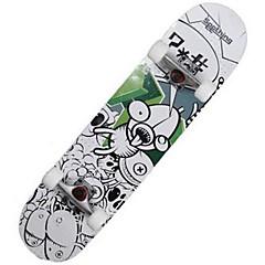 31 Inch Complete Skateboards Standardi Skateboards Kevyt Vaahtera 608ZZ-Valkoinen Musta Sininen Kuvio