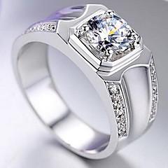 男性用 関節リング 模造ダイヤモンド ベーシック 合金 スター ジュエリー 用途 結婚式