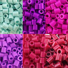 environ 500 pièces / perles Perler sac de 5mm fusionnent perles perles hama safty eva matériel pour les enfants (assortiment de B38-B43)