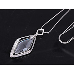 Women's Pendant Necklaces Rhinestone Taper Shape Imitation Pearl Alloy Fashion Jewelry For Wedding Party Halloween Birthday Daily Club