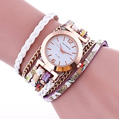 Women's Fashion Watch Bracelet Watch Chinese Quartz PU Band Vintage Elegant Casual Black White Blue Red Brown Green Gold Pink