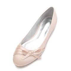 Damer Bryllup Sko Komfort Flade balletsko Satin Forår Sommer Bryllup Formelt Fest/aften Rosette Satinblomst Blomst Flad hælLilla Rød Blå