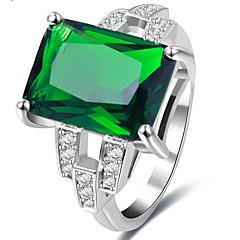 Mulheres Anéis Grossos Zircônia Cubica Básico Jóias de Luxo Estilo simples Clássico Elegant Sexy Moda Personalizado Estilo bonitoZircão