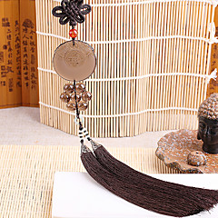 Diy automotive riipuksia kiinalainen tyyli obsidiaaninen rauha symboli auton riipus&Koriste jade kristalli