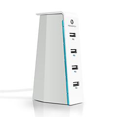 USB 충전기 4 포트 데스크 충전기 스마트 식별 전세계 충전 어댑터