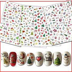 10 נייל ארט מדבקה תלת מימד חג מולד מוצרי עשה זאת בעצמך מדבקה קוסמטיקה איפור נייל אמנות עיצוב