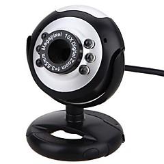 webcam caméra pc avec port usb support réglable support intégré du microphone contrôle du volume lumière led
