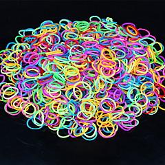 600pcs couleur arc-en-loom lumineuse bande de métier de la mode (le clip de 1package, couleurs assorties)