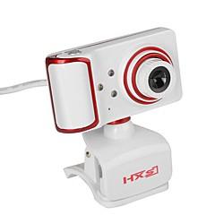 usb webcam rotativ unghiul de focalizare PC camera built-in microfon / 3 led-uri / clip stil / HD display