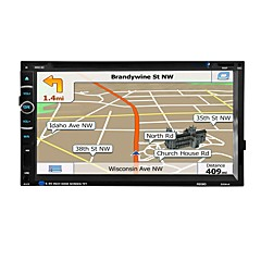 bilradio ljud 2 din 6,95 tum LCD-pekskärm multimedia video dvd spelare gps navigation bluetooth