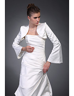 Long Sleeves Satin Bridal Jacket / Wedding Wrap (WSM0410)