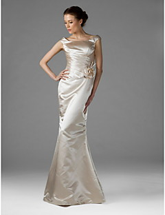 Wedding Party Dress - Champagne Plus Sizes Trumpet/Mermaid Square Floor-length Satin
