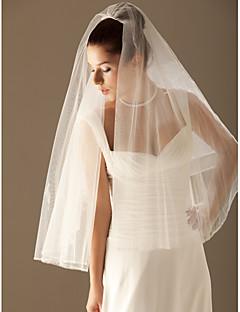 Beautiful 2 Layer Elbow Wedding Veil