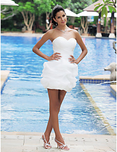 Lanting Ball Gown Plus Sizes Wedding Dress - Ivory Short/Mini Sweetheart Satin