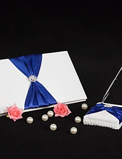 Guest Book / Pen Set Satin Beach ThemeWithBow