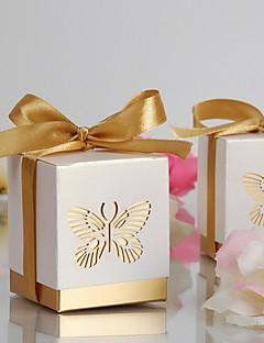 goud lasergesneden vlinder voor box (set van 12)