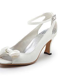 qualidade superior brilho superior heelspeep meados de pés com sapatos bowknot casamento / sapatos de noiva (0984-R-040)