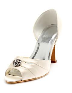 XYZA - Sapato Dedo Aberto para Casamento de Noiva em Cetim