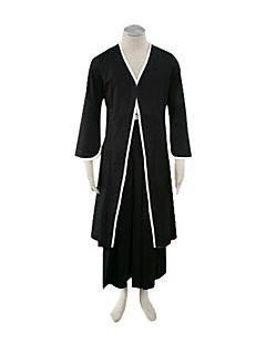 Ispirato da Cosplay Cosplay Anime Costumi Cosplay Abiti Cosplay / Kimono Tinta unita Nero Maniche lungheCappotto / Pantaloncini Hakama /