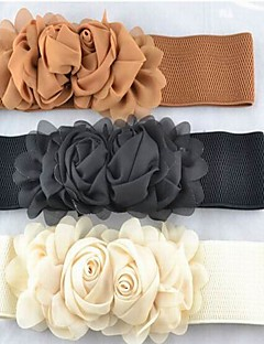 Chiffon Flower Wide Waist Belt (More Colors)