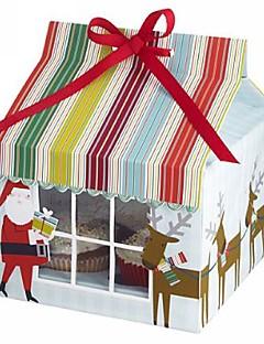Papai Noel caixa de bolo (conjunto de 12)