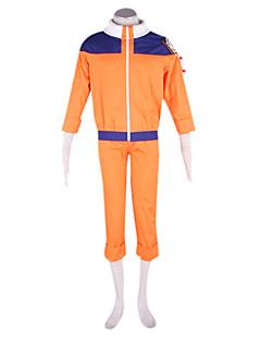 Inspireret af Naruto Naruto Uzumaki Anime Cosplay Kostumer Cosplay Suits Patchwork Orange Langt Ærme Jakke / Bukser