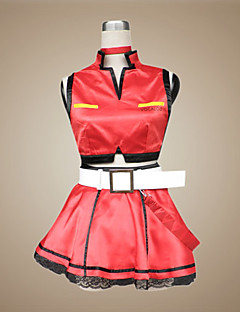 Inspired by Vocaloid Meiko Video Game Cosplay Costumes Cosplay Suits / Dresses Patchwork Red SleevelessCoat / Skirt / Necklace / Gloves /