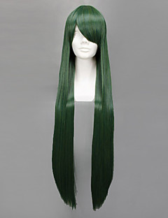 Cosplay Wigs Sailor Moon Sailor Pluto Green Long Anime Cosplay Wigs 100 CM Heat Resistant Fiber Female