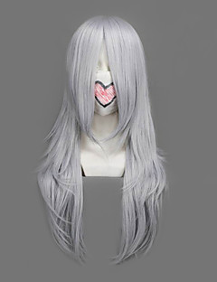 Cosplay Wigs Final Fantasy Yazoo Silver Medium Anime/ Video Games Cosplay Wigs 64 CM Heat Resistant Fiber Male