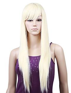 """de seda sin tapa recta de 22 """"100% importados de fibra resistente al calor peluca de cabello"""