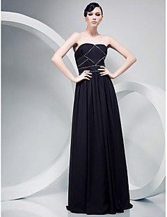 Chiffon A-line Strapless Floor-length Evening Dress inspired by Mark Salling