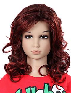 peluca-2 sin tapa larga de grado superior los niños sintéticos encantadores de Curly colores disponibles