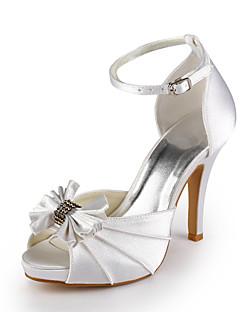 DEBORA - Sapato Dedo Aberto para Casamento em Cetim