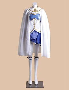 Inspired by Puella Magi Madoka Magica Sayaka Miki Anime Cosplay Costumes Cosplay Suits Patchwork White SleevelessCloak / Vest / Skirt /