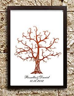 gepersonaliseerde vingerafdruk schilderij canvas prints - bruine boom (inclusief 6 inktkleuren, lijst niet meegeleverd)