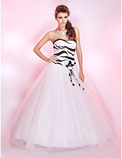 Prom/Formal Evening/Quinceanera/Sweet 16 Dress - Ivory Princess/Ball Gown Strapless/Sweetheart Floor-length Sequined/Tulle