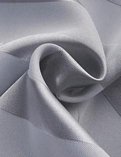 現代青い横縞遮光カーテン(2パネル)