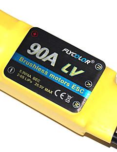 flycolor 90a 6s esc for flyvemaskine med børsteløs motor (tilfældige farver)