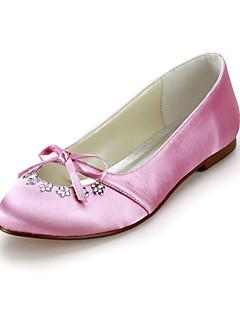 Dam Bröllop Skor Komfort/Ballerina Platt sko Bröllop Svart/Blå/Rosa/Röd/Elfenbensvit/Vit/Silverfärgad