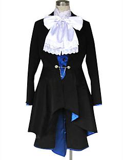 קיבל השראה מ Black Butler Ciel Phantomhive אנימה תחפושות קוספליי חליפות קוספליי אחיד שרוול ארוך עניבה מעיל אפוד חולצה מכנסיים קצרים עבור
