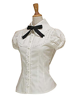 Blouse/Shirt Sweet Lolita Lolita Cosplay Lolita Dress Solid Bowknot Short Sleeve Lolita Blouse For Cotton