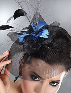 Women's Feather / Tulle Headpiece-Wedding / Special Occasion Fascinators