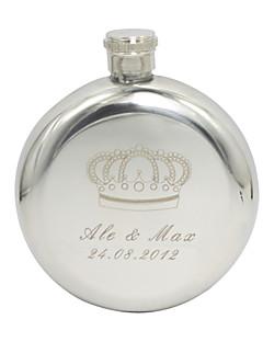 Marié Groom Cadeaux Pièce / Set Flasque Classique Mariage Célébration Anniversaire Inox Personnalisé Flasque Argent Sac en polyéthylène