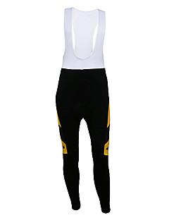 KOOPLUS® טייץ ביב לרכיבה לגברים אופניים נושם / שמור על חום הגוף / ייבוש מהיר / לביש / רצועות מחזירי אור / 3D לוחמכנסיים קצרים עם כתפיות /