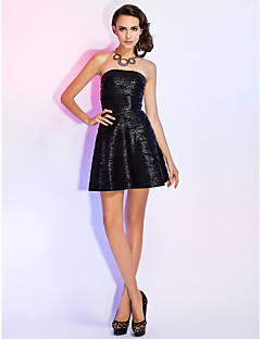 Homecoming Cocktail Party/Holiday Dress - Multi-color A-line Strapless Short/Mini Rayon
