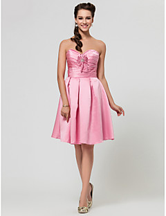 Wedding Party/Homecoming/Cocktail Party Dress - Candy Pink Apple/Hourglass/Inverted Triangle/Pear/Rectangle/Petite/Misses A-line/Princess