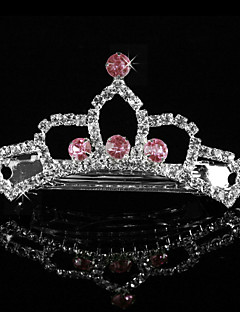 Fabulous Alloy With Rhinestone Flower Girl Tiaras / Barrette
