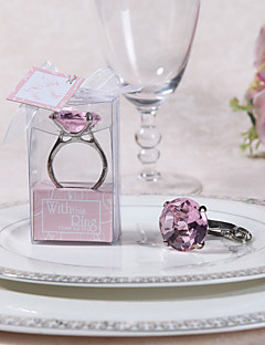 "Engagment Ring Keychain with Gift Box and ""For You"" Tag"