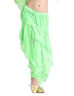 Danse du ventre Bas Femme Entraînement Mousseline Volants Taille moyenne