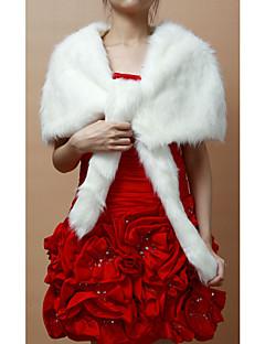 Wedding / Party/Evening Faux Fur Shawls Sleeveless